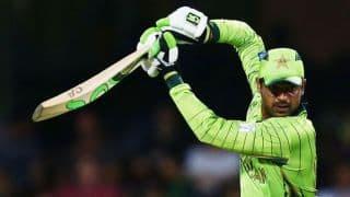 Haris Sohail dismissed for 36 against India