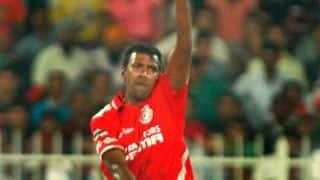 AB de Villiers dismissed by Lakshmipathy Balaji as Kings XI Punjab take control against Royal Challengers Bangalore in IPL 2014