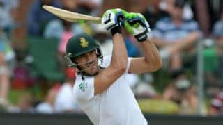 South Africa vs West Indies 2014-15: Dean Elgar and Faf du Plessis bring up 150-run stand for 2nd wicket