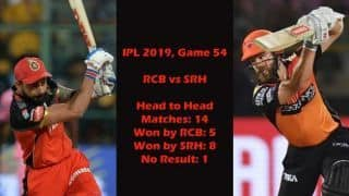 IPL 2019 RCB vs SRH: Who will win today's IPL match – predictions, playing 11s and head to-head