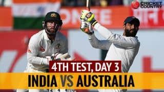 Live Cricket Score, Ind vs Aus 2016-17, 4th Test, Day 3: Battle for 'lead' resumes