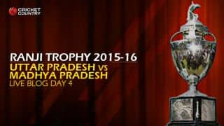 MP 531/7   Live Cricket Score, Uttar Pradesh vs Madhya Pradesh, Ranji Trophy 2015-16, Group B match, Day 4 at Moradabad: Match Drawn
