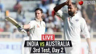 Live Cricket Score, India vs Australia 2017, 3rd Test, Day 2: Rahul falls for 67