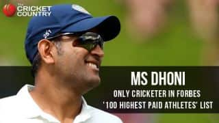 Dhoni only Indian and cricketer in Forbes' list