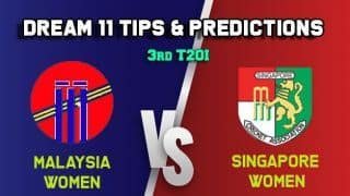 ML-W vs SIN-W Dream11 Team Malaysia Women vs Singapore Women, 3rd T20I, Saudari Cup 2019 – Cricket Prediction Tips For Today's Match ML-W vs SIN-W at Singapore