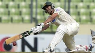 Shan Masood, Younis Khan rescue Pakistan as they go to Tea at 99/2 vs Sri Lanka; Need 278 more to win
