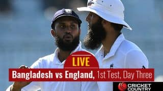 LIVE Cricket Score, Bangladesh vs England, 1st Test, Day 3 at Chittagong
