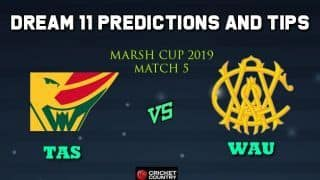 Dream11 Team Tasmanian Tigers vs Western Australia, Match 5 Marsh One-Day Cup 2019 Australian ODD – Cricket Prediction Tips For Today's Match TAS vs WAU at Perth
