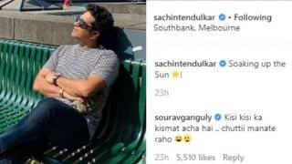 Sourav Ganguly trolls Sachin tendulkar on Instagram