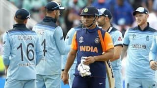 ICC CRICKET World Cup 2019: We're very happy with the intent MS Dhoni is batting with says Sanjay Bangar