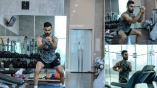 Watch Kohli train hard ahead of England tour