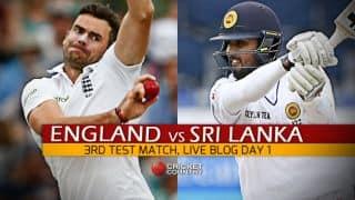 ENG vs SL 2016 Live Cricket Score, 3rd Test, Day 1