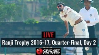 Live Cricket Score Ranji Trophy 2016-17, Quarter-final, Day 2: TN qualify for semis