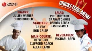 Burgers, fries, lamb and more! The ultimate cricket menu!