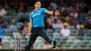 ICC Cricket World Cup 2015, England vs West Indies, 4th warm-up match at Sydney: Chris Woakes' fifer restricts West Indies to 122