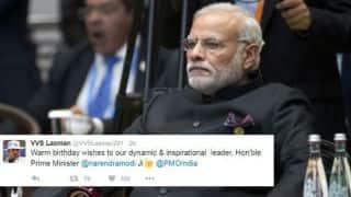 Cricket fraternity wish Prime Minister Narendra Modi on his 66th birthday