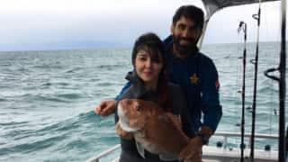 PHOTOS: Misbah-ul-Haq goes fishing with wife Uzma, teammate Younis Khan