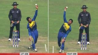 VIDEO: Kamindu Mendis bowls left-arm spin and right-arm off-break in Pakistan vs Sri Lanka, ICC Under-19 Cricket World Cup 2016 match