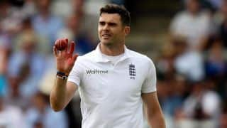 James Anderson fined for showing dissent at umpire decision