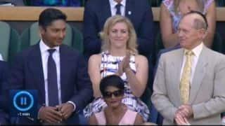 Kumar Sangakkara, Geoffrey Boycott at Wimbledon 2015
