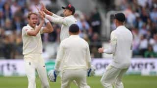 India vs England, 2nd Test, Day 4 tea: Stuart Broad scythes through Indian middle-order