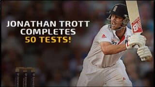 West Indies vs England: Jonathan Trott completes 50 Tests for England
