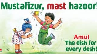Photo: Amul lauds Bangladesh cricketer Mustafizur Rahman for splendid show against India