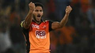 Upbeat Thampi wants to win matches for Sunrisers Hyderabad