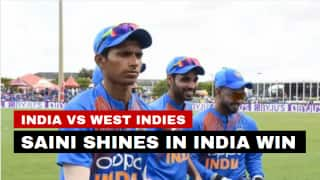 IND vs WI, 1st T20I highlights: Impressive Navdeep Saini helps India start WI tour with a win