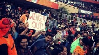 'Wenger Out' banners spotted at IPL 2017 opener between SRH and RCB!
