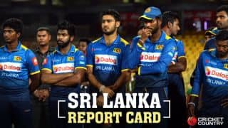 Report card for Tharanga's men