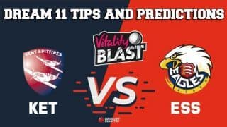 Dream11 Team Kent vs Essex South Group VITALITY T20 BLAST ENGLISH T20 BLAST – Cricket Prediction Tips For Today's T20 Match KET vs ESS at Canterbury