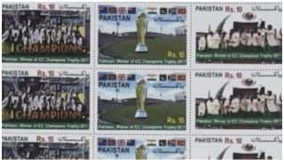 Postage stamps & souvenir sheet issued to honor Pakistan's memorable victory in ICC Champions' Trophy 2017