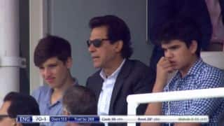 PHOTO: Arjun Tendulkar spotted with Imran Khan at Lord's