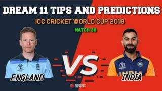 IND vs ENG Dream11 Prediction, Cricket World Cup 2019, Match 38: Best Playing XI Players to Pick for Today's Match between India and England at 3 PM
