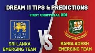 SL-ET vs BD-ET Dream11 Team Sri Lanka Emerging Team vs Bangladesh Emerging Team, 1st Unofficial ODI, Sri Lanka Emerging Team tour of Bangladesh – Cricket Prediction Tips For Today's Match SL-ET vs BD-ET at Savar