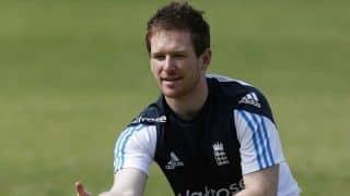 Eoin Morgan faces Merlyn bowling machine