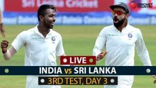 Live Cricket Score, India vs Sri Lanka, 3rd Test Day 3:India complete 3-0 whitewash