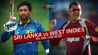 Sri Lanka 161/9 in 24.5 Overs I Live Cricket Score Sri Lanka vs West Indies 2015, 1st ODI at Colombo (PSS): Sri Lanka clinches dramatic encounter