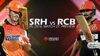 Sunrisers Hyderabad vs Royal Challengers Bangalore, IPL 2016 Match 27 at Hyderabad: Preview
