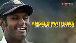 Mathews: Sri Lanka's lone warrior