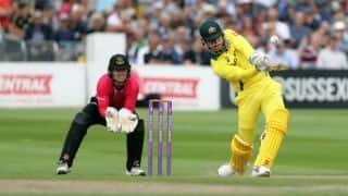 Stoinis ton take AUS to victory over Sussex by 57 runs