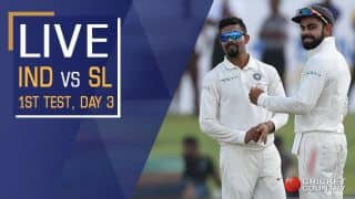 Live Cricket Score, India Men vs Sri Lanka Men 2017, 1st Test, Day 3
