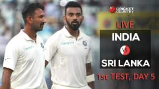 Live Cricket Score, India vs Sri Lanka, 1st Test, Day 5 at Eden Gardens: India 4 down