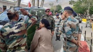 Lt. Col MS Dhoni in Ladakh on Independence Day
