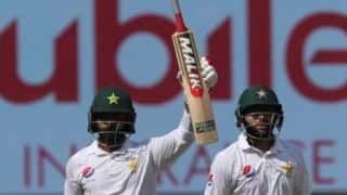1st Test, Day 1: Mohammad Hafeez scores century in comeback as Pakistan dominate Australia