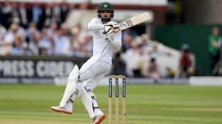 दुबई टेस्ट: मोहम्मद हफीज का शानदार शतक, पहले दिन पाकिस्तान 255/3