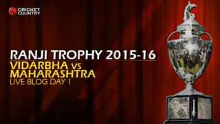 VID 227/4 I Live cricket score, Vidarbha vs Maharashtra, Ranji Trophy 2015-16, Group A match, Day 1 at Jamtha, Nagpur; Stumps