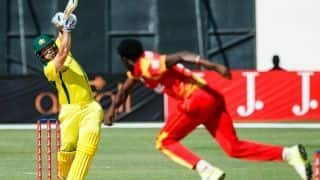 Australia crush Zimbabwe, rise to top of points table