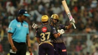 Rana, Uthappa and Russell assault Punjab as Kolkata post 218/4